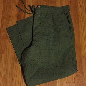 J. Crew Mercantile Eyelet Cropped Pants